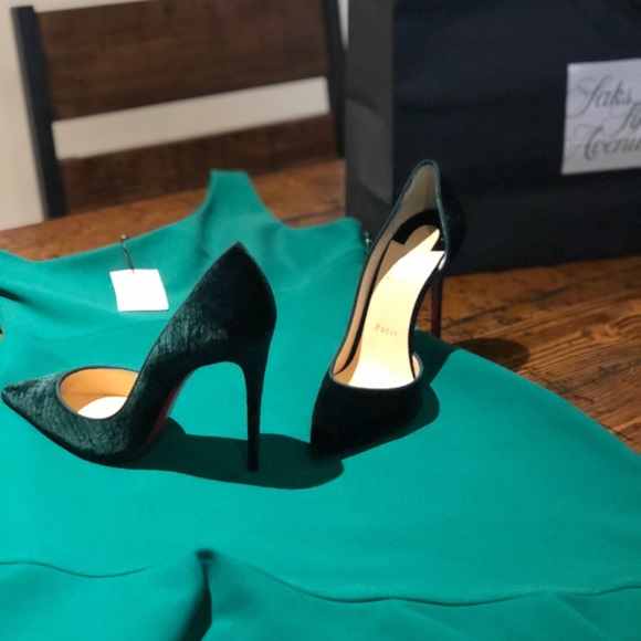 c1114ba3b90c Christian Louboutin Shoes - Green velvet Christian Louboutins